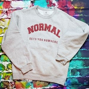 NORMAL GETS YOU NOWHERE GRAFFIC PULLOVER SWEAT